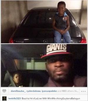 Tiwa Savage husband TeeBillzsteps out with his son